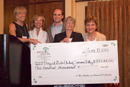 Impact100-Sonoma-Awards-Check-to-Boys-and-Girls-Clubs-6.10.10