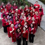 Sonoma Valley Hospital staff members show they're all heart in advance of February's special health activities. Photo by Bonnie Durrance