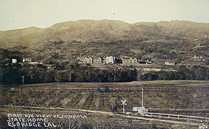 The Home for the Care and Training of Feeble Minded Children, on the eastern slopes of Sonoma Mountain, in 1910.