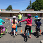 Bicycling workshop for the whole family