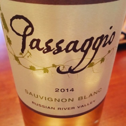 Passaggio Wines 2014 Next Generation Sauvignon Blanc from Russian River as photographed by wine blogger Cindy Rynning of Grape Experiences