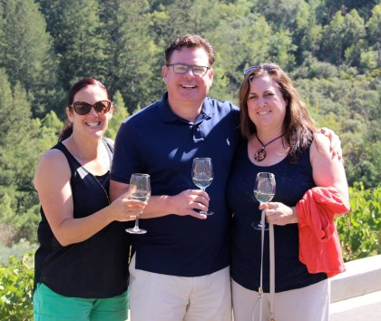 Guests at Petroni Vineyards in Sonoma, California