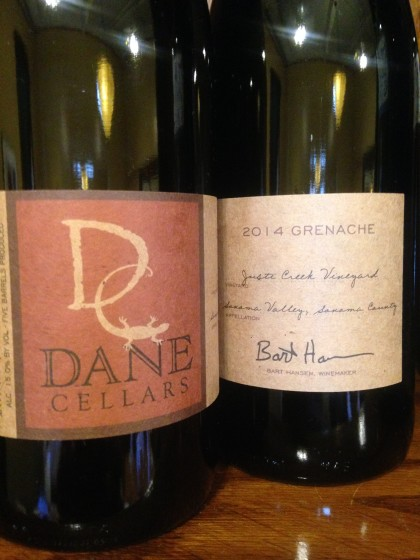 Dane Cellars Grenache from Justi Creek Vineyards is currently available only at the girl & the fig