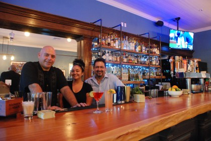 From left: Brian Gilliland, Bar Manager, Mia Winders, Bartender and Enrique Padilla, General Manager.