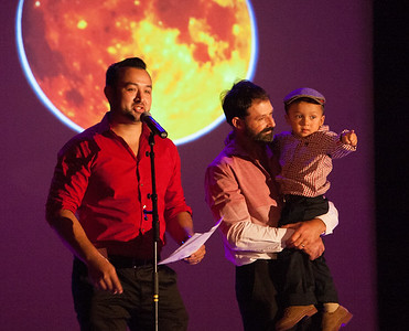 Accompanied by his father, Salvador Sr. and son, Salvador lll, Salvador Chavez delivered this speech at La Luz's Noche of China Moon event on August 5.