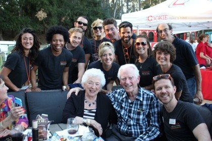 Photo 3 - Warren and Clara MacQuarrie with performers and staff from Transcendence Theatre Company's Broadway Under The Stars - photo by Rebekah Pearson