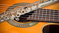 The Flute and a classical guitar