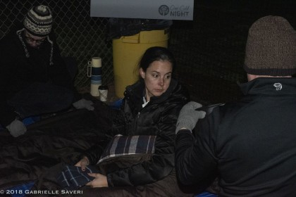 Sonoma City Councilmember Rachel Hundley beds down  for One Cold Night on December 7